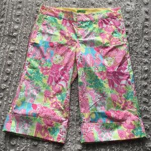 Lilly Pulitzer Palm Beach Fit cuffed crop pants 6